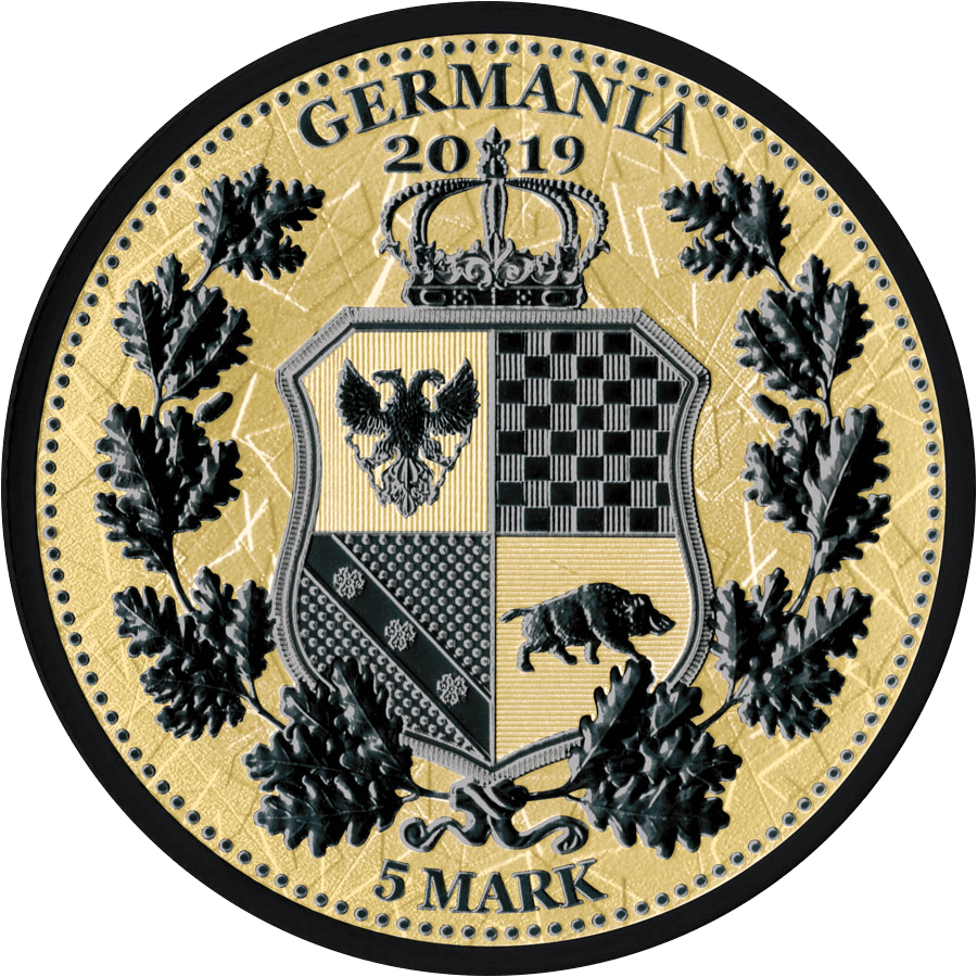 Germania – Kombination aus Black Rhodium Finish und Gold